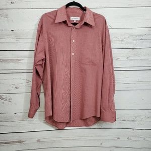 Yves Saint Laurent Red Casual Button Down size L